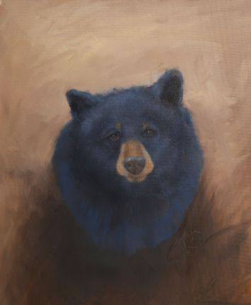 """Ursus americanus portrait. Original oil painting, 16""""x20"""". Available. You can also buy this image printed on home décor items such as canvas prints and even pillows and coasters. See the Shop tab for more details."""