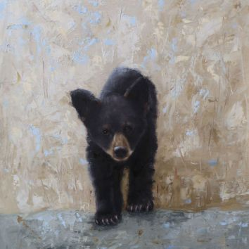 """Young bear cub. Original oil painting created with palette knives. 16""""x20"""". Available. You can also buy this image printed on home décor items such as canvas prints and even pillows and coasters. See the Shop tab for more details."""