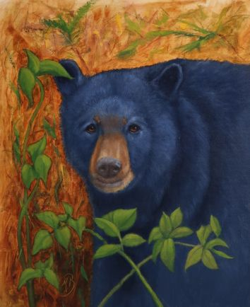 """Be sure to watch where you're going when you're out in the woods. 16""""x20"""" original oil painting on canvas. Available."""
